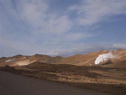 Some geothermal plant there...