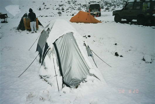 This is how it looked when we woke up (who said Doite is a bad tent?)