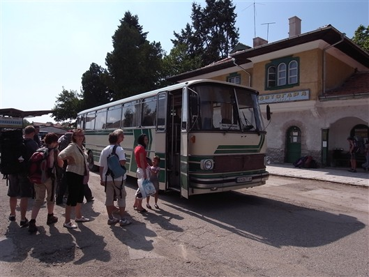 A bus we took in Rila