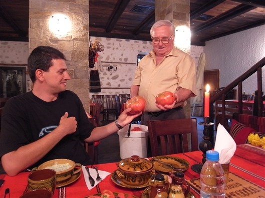 """Ivan"" shows us his huge tomatoes"
